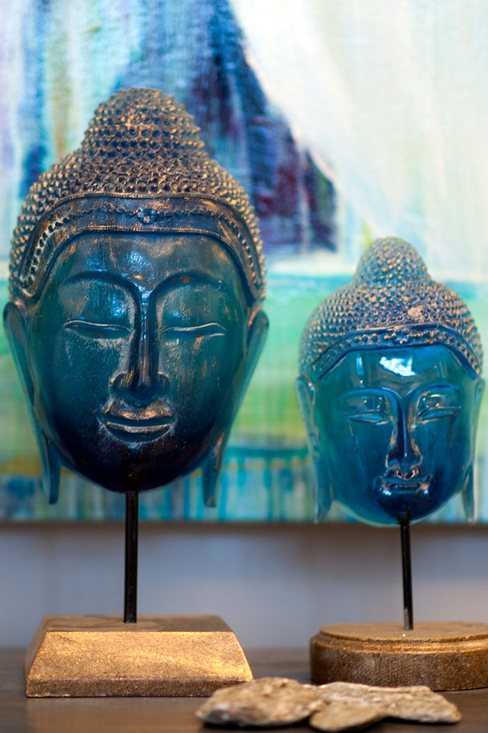Debra Somerville Photo, Photography, Photographer, Southern Florida, Interiors, Buddha Heads